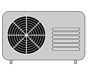 エアコン-日よけ-カバー-電気代-節約-温度-室外機画像